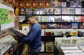 Wax Trax prepares for Record Store day in Denver, Co.